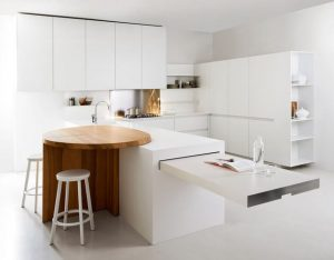 ROUND TABLE APARTMENT KITCHEN DINING ROOM COMBO