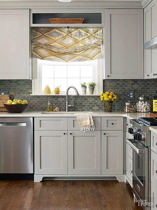THREE LAYERS OF GREY APARTMENT KITCHEN COLOR SCHEMES IDEAS