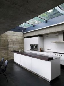 APARTMENT KITCHEN DESIGN IDEAS WITH SKYLIGHT