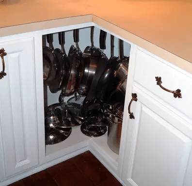 FILL THE CORNER CABINET FOR APARTMENT KITCHEN STORAGE