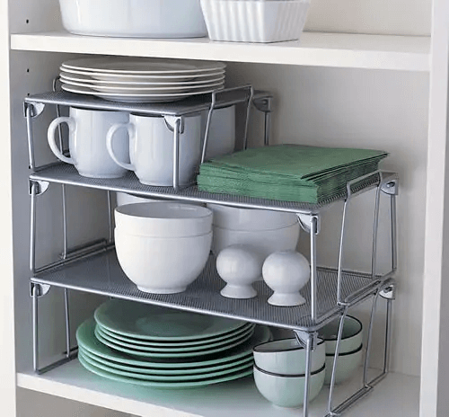 SHELVES INSIDE THE SHELF FOR APARTMENT KITCHEN STORAGE DESIGN IDEAS