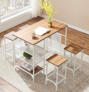 APARTMENT TABLE IDEAS WITH DINING BAR SET IN 5 PIECES