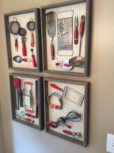 FRAME KITCHEN UTENSILS TO DECORATE OUR APARTMENT KITCHEN