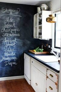 MAGIC CHALKBOARD APARTMENT KITCHEN WALL DECOR IDEAS