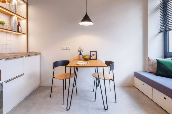 MINIMALIST TABLE FOR APARTMENT KITCHEN AND LIVING ROOM COMBO