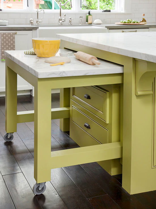 PULL OUT DINING TABLE IDEAS FOR APARTMENT KITCHEN