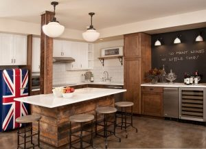 AMERICAN COUNTRY THEMES FOR BASEMENT APARTMENT KITCHEN MAKEOVER IDEAS