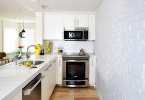 FILL THE SPACE WITH APPLIANCE FOR BASEMENT APARTMENT KITCHEN MAKEOVER IDEAS