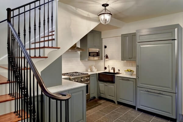 RUSTIC BASEMENT APARTMENT KITCHEN MAKEOVER IDEAS