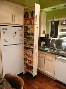 SKINNY KITCHEN CABINET PULL OUTS FOR SMALL SPACE ORGANIZING