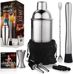 24 oz Cocktail Shaker Bartender Set by Aozita