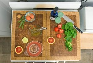 CREATIVE SPACE SAVING IDEAS FOR SMALL KITCHENS WITH PREPARE YOUR COOKING INGREDIENTS