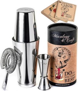 Cocktail Shaker Boston Shaker Set by Mixology and Craft Store