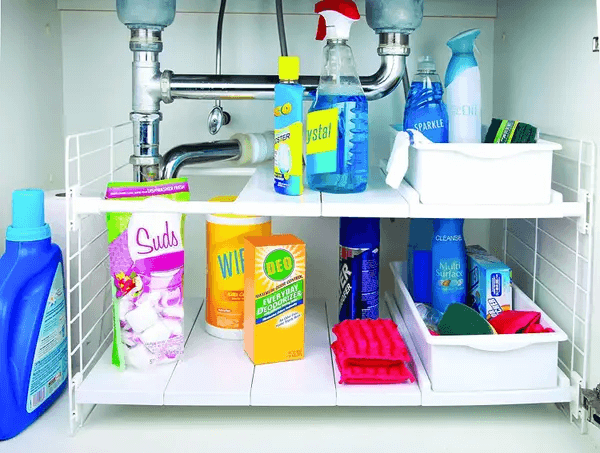 EXPANDABLE UNDER THE SINK ORGANIZER