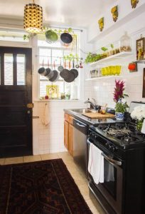 Get extra space from the closest room small kitchen space saving ideas