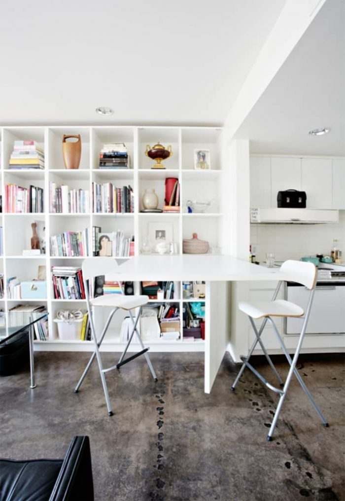 HANG THOSE FOLDING CHAIRS TO SAVE MORE SPACE IDEAS FOR SPACE SAVING SMALL KITCHEN