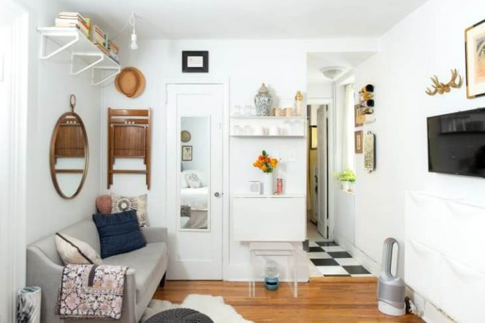 PUT A SHELF ON THE WINDOW FOR SMALL KITCHEN SPACE SAVING