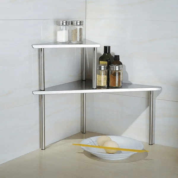 TWO TIER STORAGE SHELF