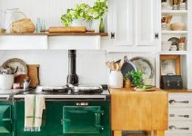 GREEN STOVE FARMHOUSE SMALL KITCHEN IDEAS