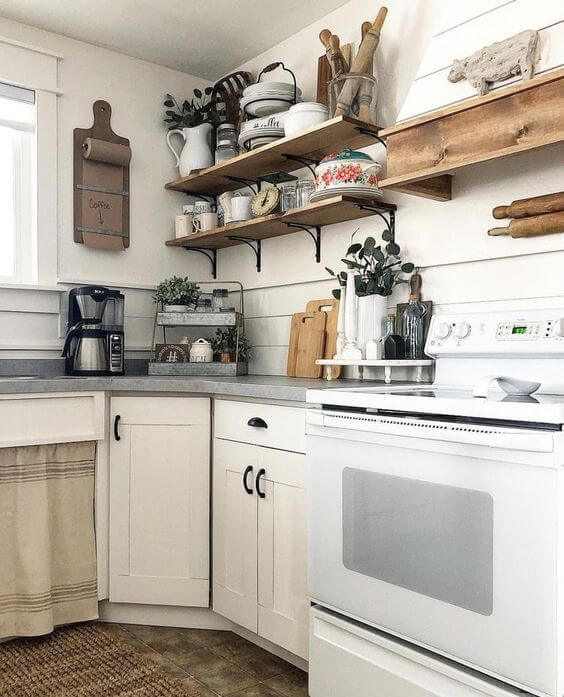 OPEN CABINET CLOSE SINK FARMHOUSE SMALL KITCHEN IDEAS