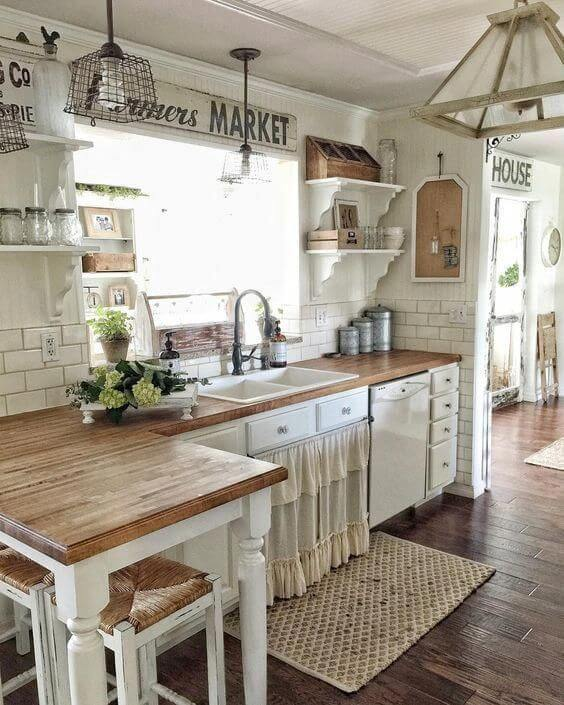 RUSTIC FARMER'S MARKET FARMHOUSE SMALL KITCHEN IDEAS