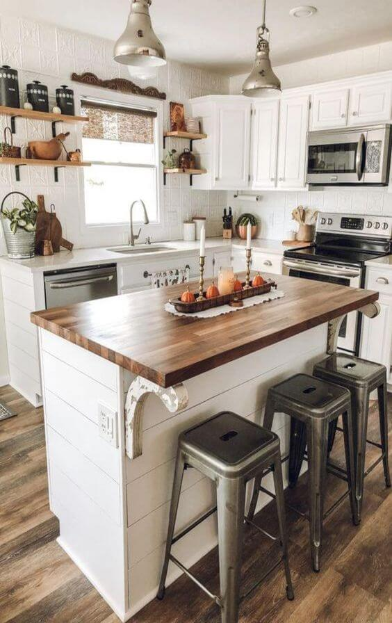 WOODEN FARMHOUSE SMALL KITCHEN IDEAS