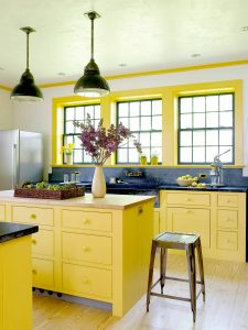 YELLOW FARMHOUSE SMALL KITCHEN IDEAS