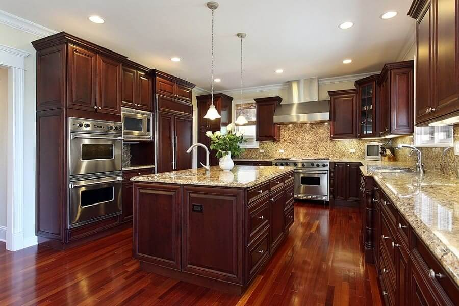 AWESOME LARGE ISLAND IN SMALL KITCHEN