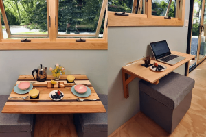 SMALL KITCHEN FOLDING TABLES WITH BENCH