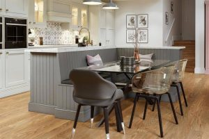 SMALL KITCHEN TABLES WITH BENCH AS STORAGE
