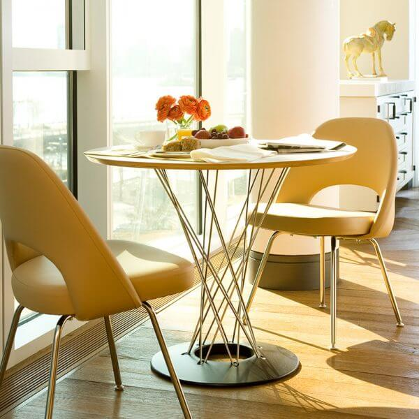 SCULPTURAL DINING TABLE FOR SMALL KITCHEN LOOK LARGER