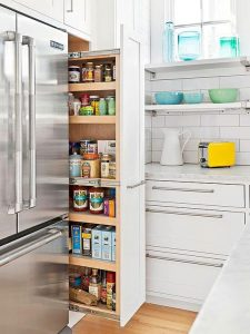 SMALL KITCHEN CENTRAL PANTRY DESIGN IDEAS