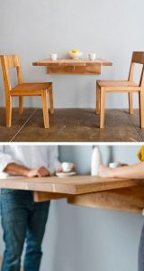 WALL MOUNTED DINING TABLE FOR SMALL KITCHEN LOOK LARGER