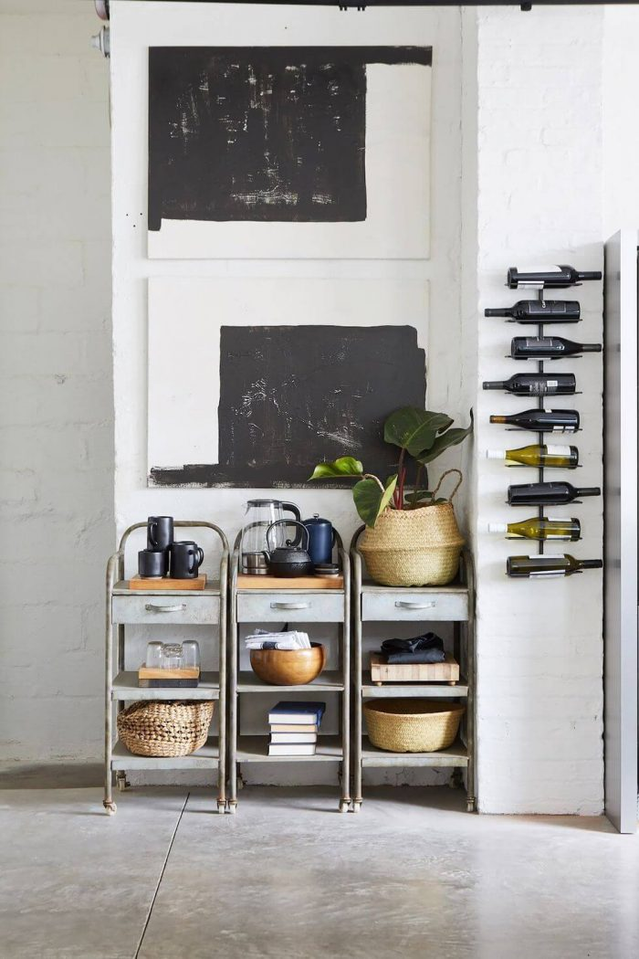 CREATIVE SMALL KITCHEN SHELVES IDEAS WITH UNUSED OFFICE STUFF CAN BE REPURPOSED