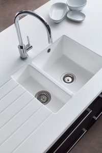 MODERN DOUBLE SINK DESIGN FOR SMALL KITCHEN SINK DIMENSIONS