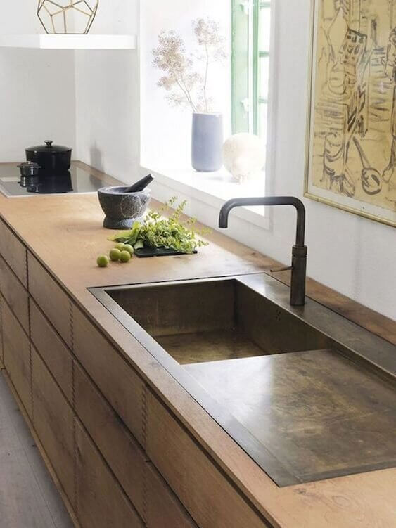 RUSTIC DESIGN IDEAS FOR WOOD SMALL KITCHEN SINK DIMENSIONS