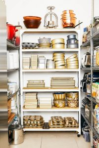 SMALL KITCHEN SHELVES IDEAS WITH UNUSED CLOSET