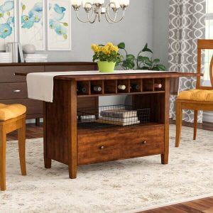 AWESOME IDEAS FOR SMALL KITCHEN WITH EXTENDABLE DROP LEAF TABLE WITH CONVENIENT STORAGE