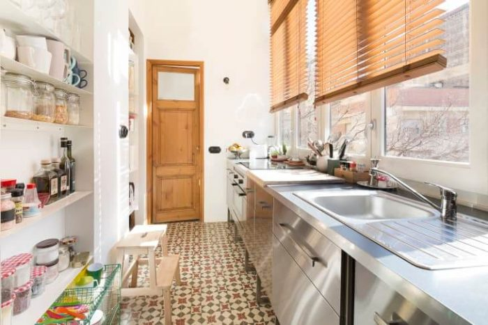 BRIGHT SMALL GALLEY KITCHEN IDEAS ON A BUDGET