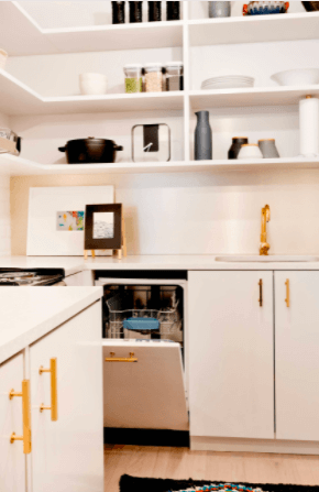COMPACT DISHWASHER TO MAKE A SMALL KITCHEN LOOK BIGGER