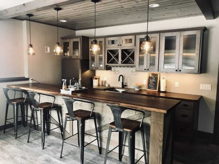ENTERTAINING ELEMENTS FOR SMALL BASEMENT KITCHEN