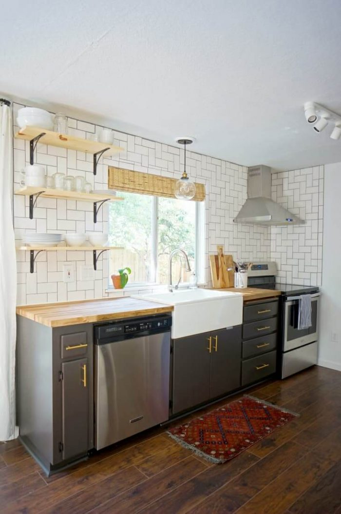 GRAY SMALL GALLEY KITCHEN IDEAS ON A BUDGET