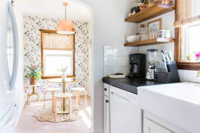 MID CENTURY SYLE SMALL GALLEY KITCHEN IDEAS ON A BUDGET