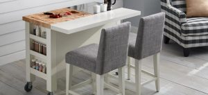 MOVABLE BREAKFAST BAR SMALL KITCHEN TABLE IDEAS WITH 2 CHAIRS