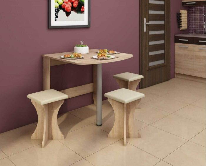 PORTABLE DROP LEAF TABLE FOR SMALL KITCHEN WITH 2 OR 3 CHAIRS DESIGN IDEAS
