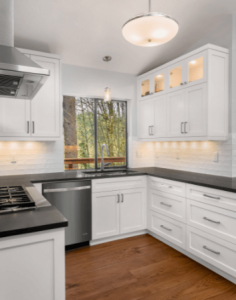 SHALLOW CABINETS TO MAKE A SMALL KITCHEN LOOK BIGGER