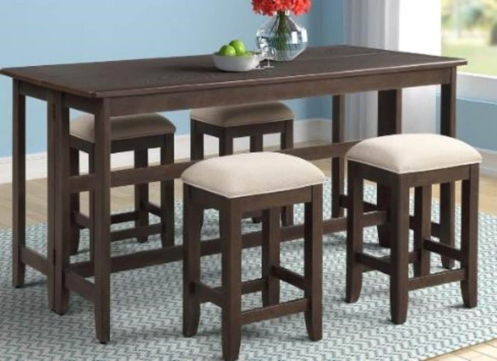 SIMPLE SMALL KITCHEN TABLE WITH STOOLS
