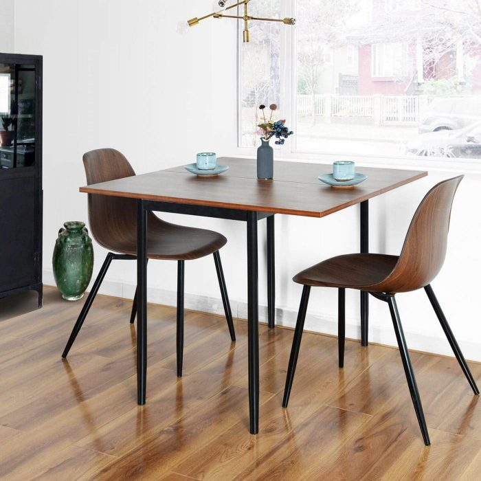 SMALL KITCHEN DROP LEAF TABLE WITH 2 CHAIRS