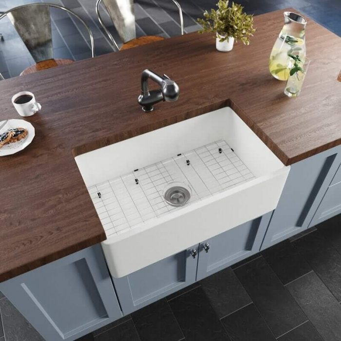 WOOD COUNTERTOPS FOR SMALL BASEMENT KITCHEN
