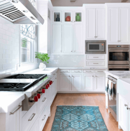 FIT THE MICROWAVE INTO THE CABINETRY IN SMALL KITCHEN